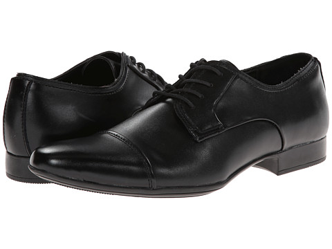 Calvin Klein - Gabriel (Black Leather) Men's Lace up casual Shoes
