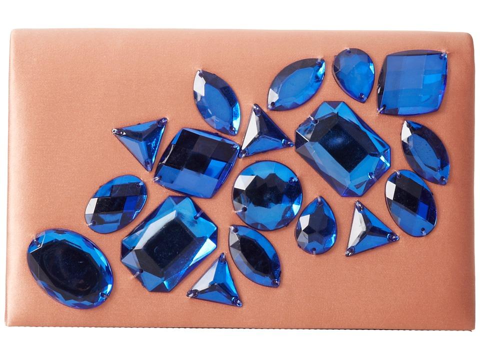 Franchi Handbags - Noah Clutch (Blush/Sapphire) Clutch Handbags