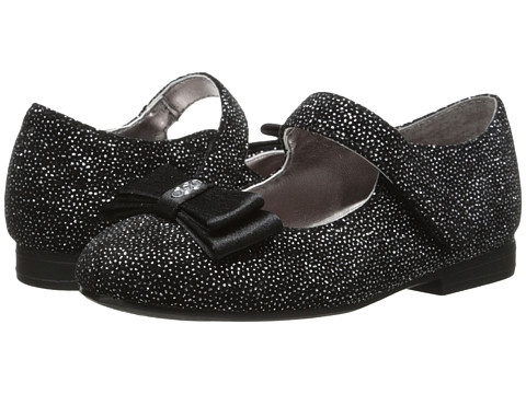 Nina Kids - Emer (Toddler/Little Kid) (Black Glitter Vel) Girl's Shoes