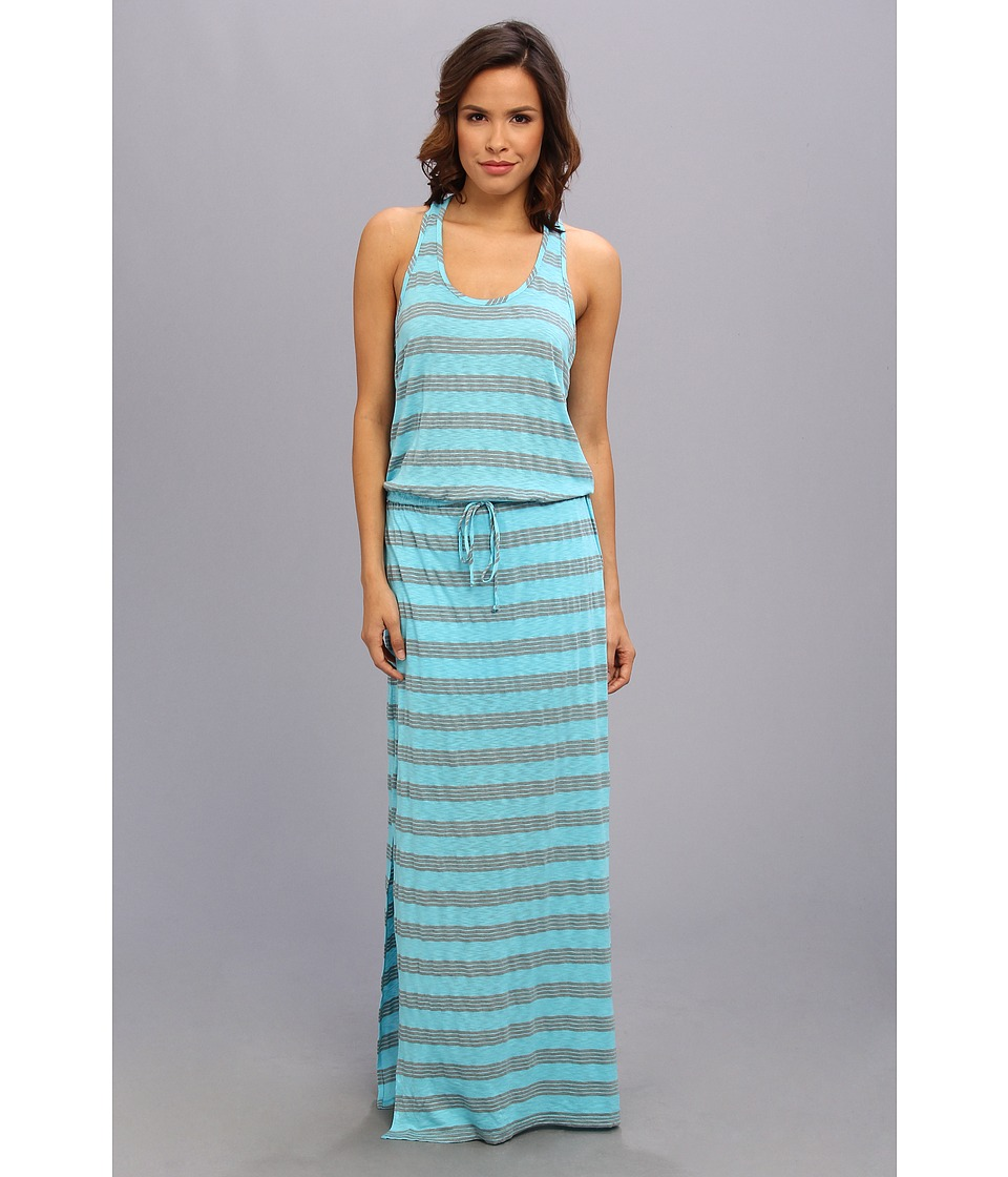 C&C California - Sandwashed Stripe Maxi Dress (Scuba Blue) Women's Dress