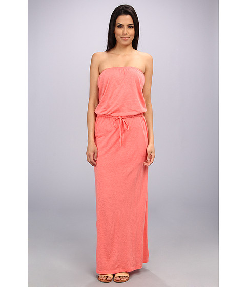 C&C California - Slub Jersey Maxi Dress (Gumball Pink) Women's Dress