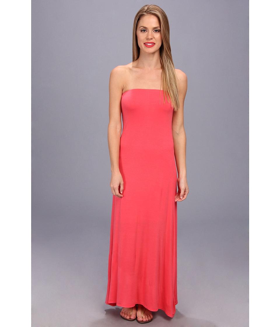 Brigitte Bailey - Strapless Maxi Dress (Coral) Women's Dress