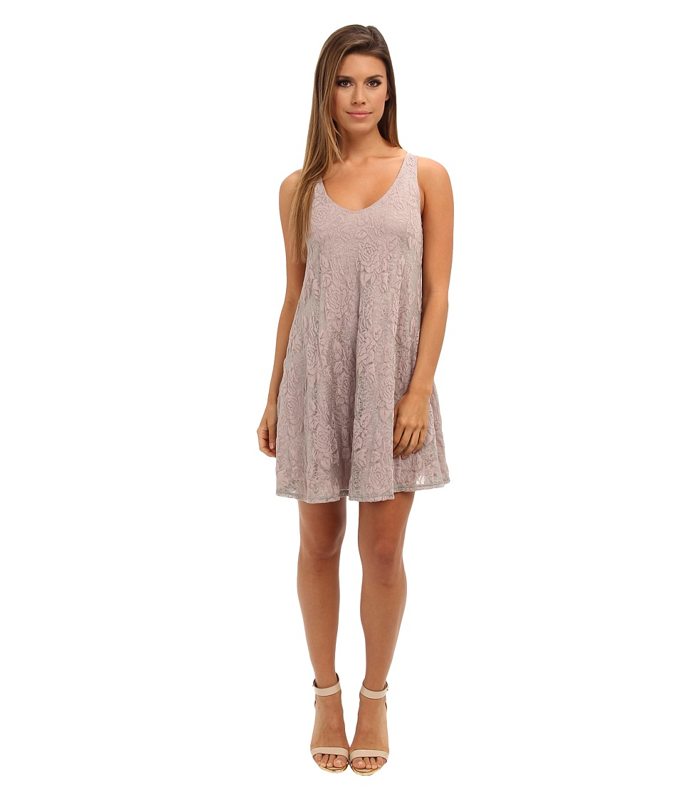 Brigitte Bailey - Lace V-Neck Flowy Dress (Cocoa) Women