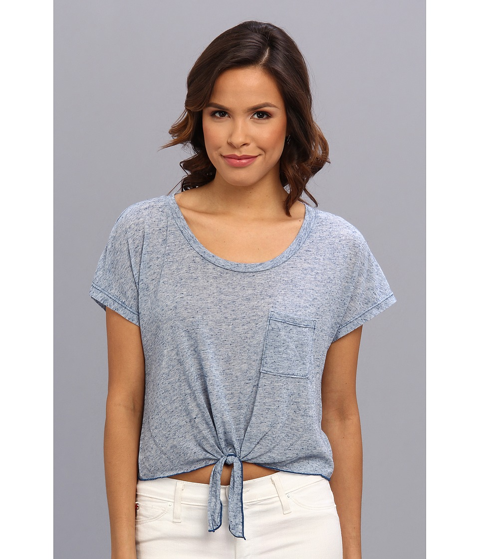 C&C California - Marled Jersey Crop Top (Limoges) Women's Short Sleeve Pullover