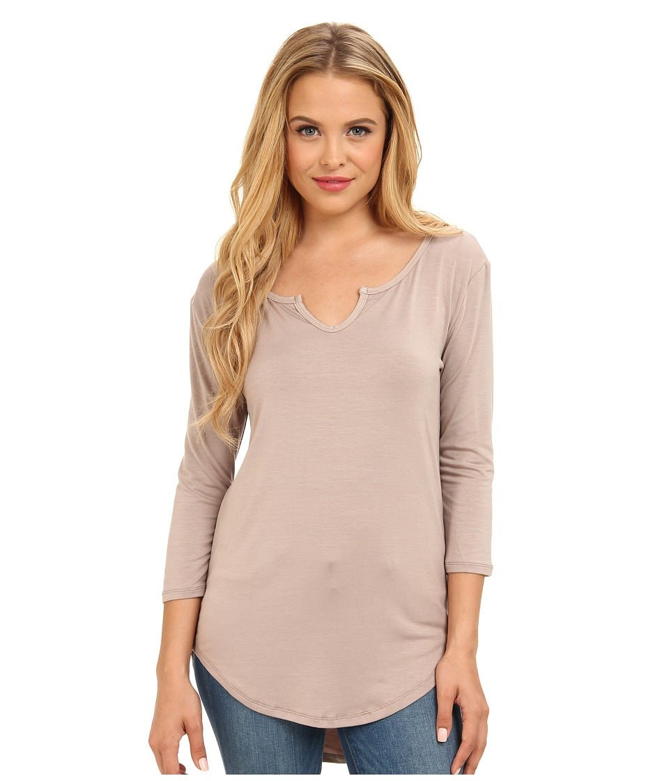 Culture Phit - Long Sleeve Basic Top (Mocha) Women's Long Sleeve Pullover