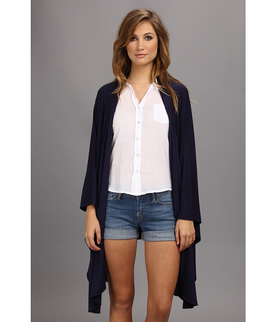 Culture Phit - Wrap Cardigan (Navy) Women's Sweater