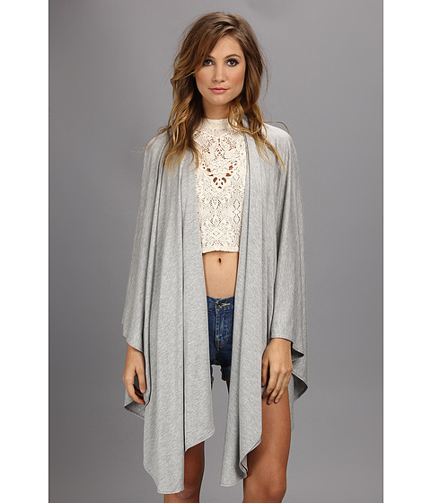 Culture Phit - Wrap Cardigan (Heather Grey) Women's Sweater