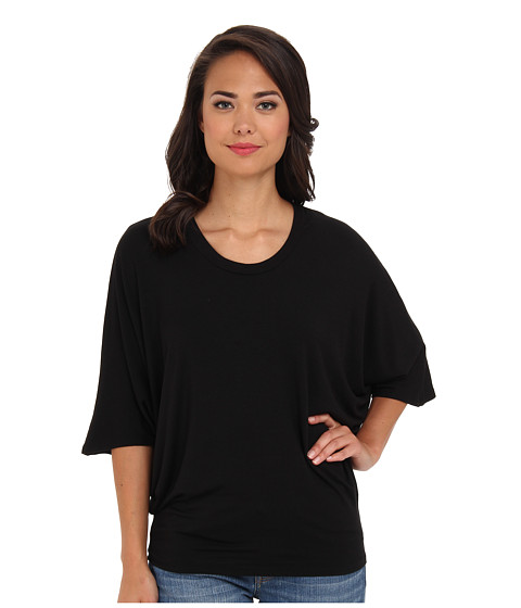 Culture Phit - Scoop Neck Top (Black) Women's Short Sleeve Pullover