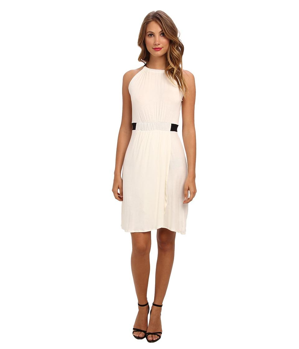 Christin Michaels - Hannah Sleeveless Dress (Ivory/Black) Women's Dress