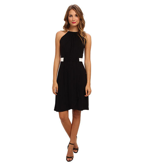 Christin Michaels - Hannah Sleeveless Dress (Black/Ivory) Women