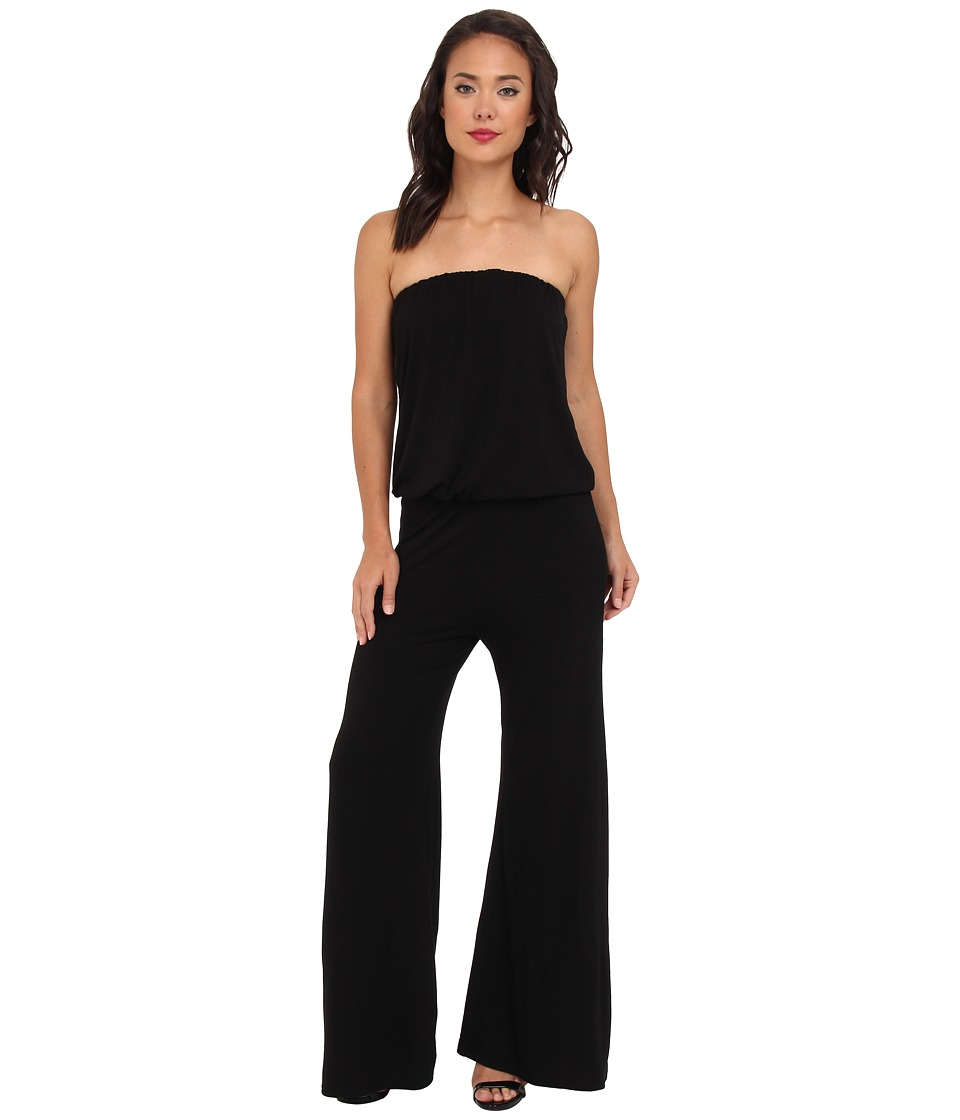 Culture Phit - Strapless Boyfriend Jumper (Black) Women's Jumpsuit & Rompers One Piece
