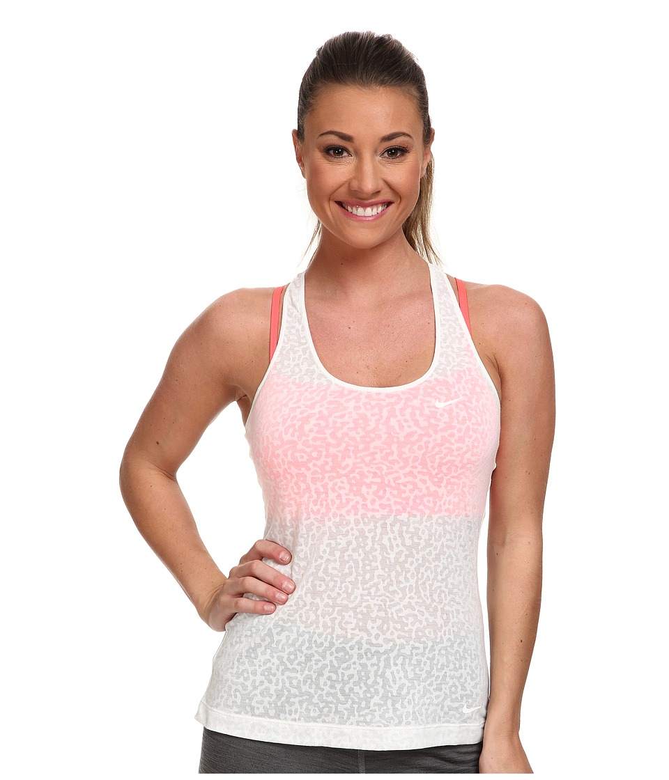Nike - Nike 2-in-1 Mezzo Tank Top (Ivory/Hyper Punch/Ivory) Women's Sleeveless