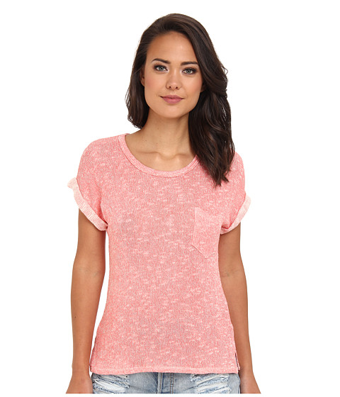 C&C California - Loose Knit Roll Sleeve Tee (Desert Flower) Women's T Shirt