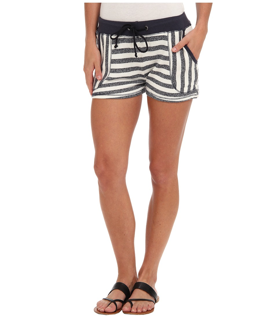 C&C California - Striped French Terry Short (Navy) Women