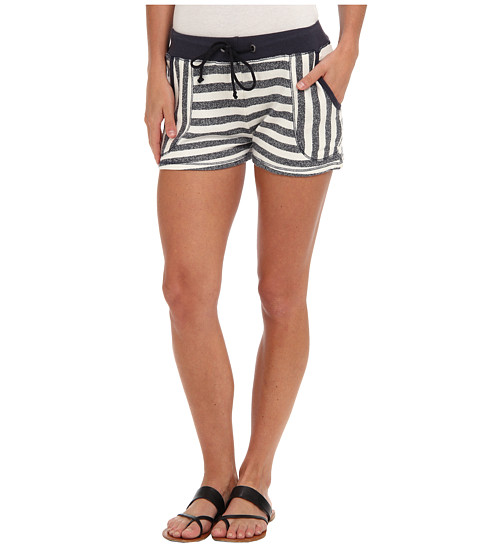 C&C California - Striped French Terry Short (Navy) Women's Shorts