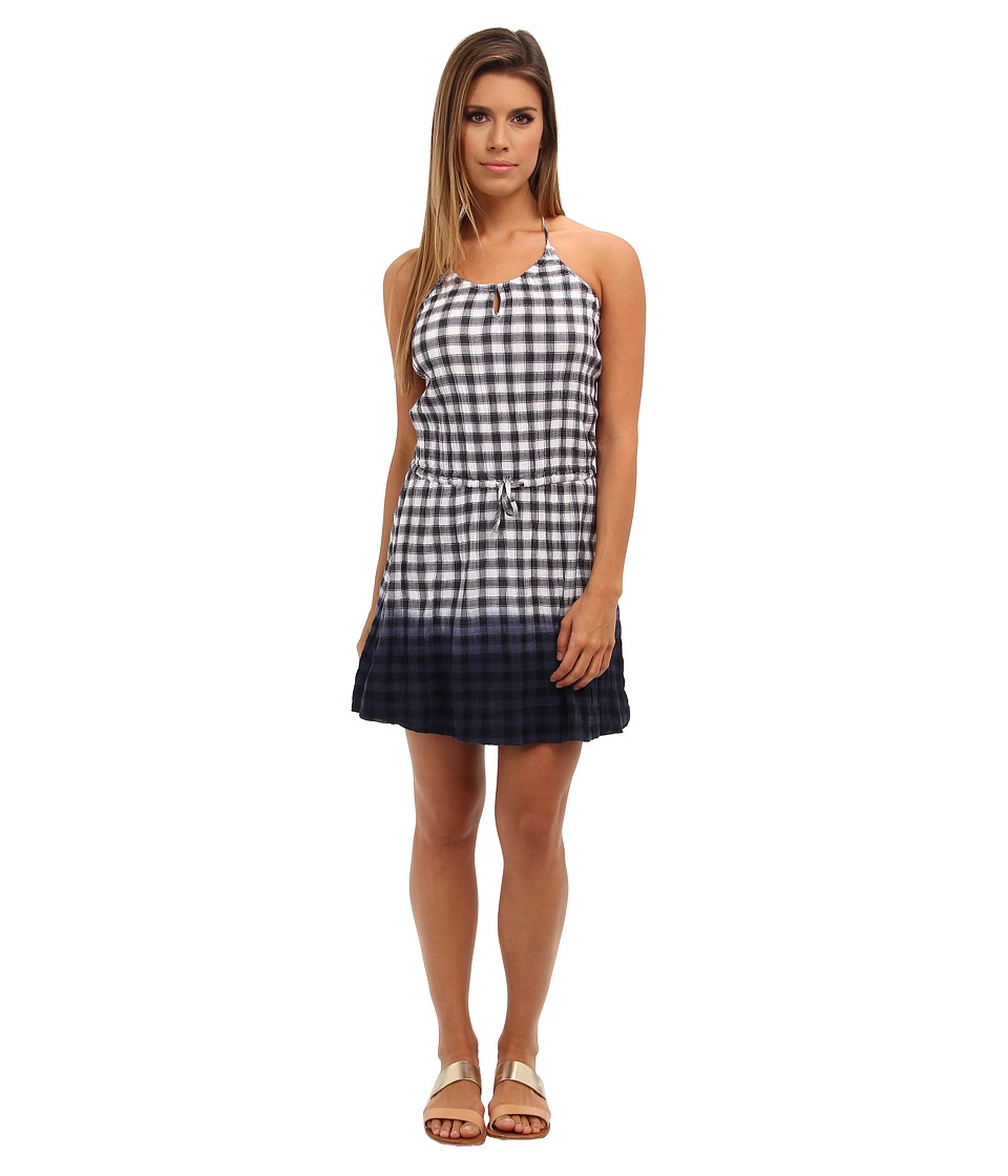 C&C California - Dip-Dye Gingham Dress (Navy) Women's Dress