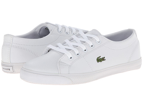Lacoste - Marcel L Cla FA14 (Little Kid) (White/White) Men's Shoes