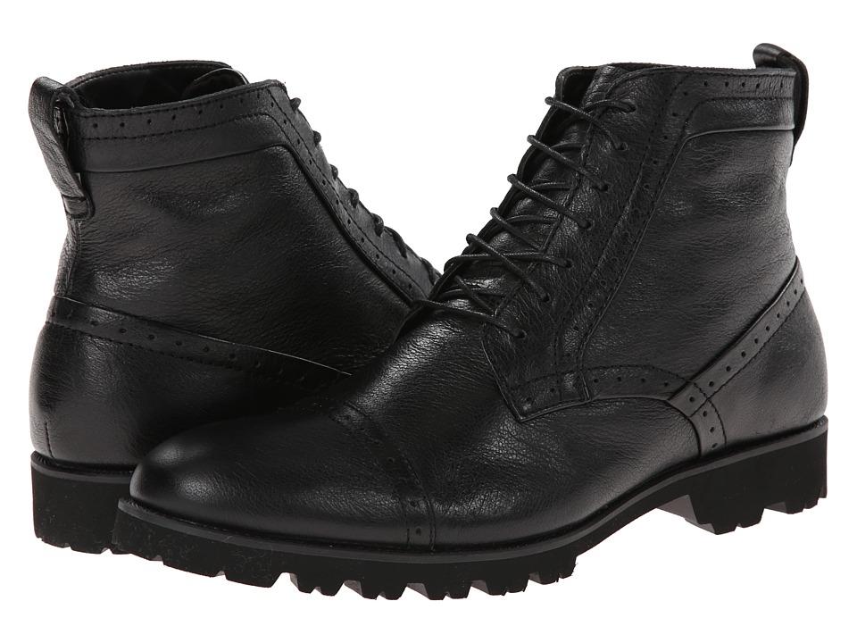 Calvin Klein - Levin (Black Leather) Men's Lace-up Boots