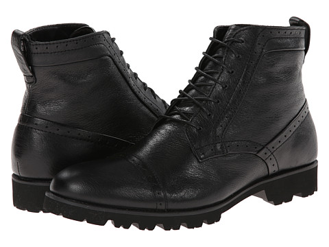 Calvin Klein - Levin (Black Leather) Men's Lace-up Boots
