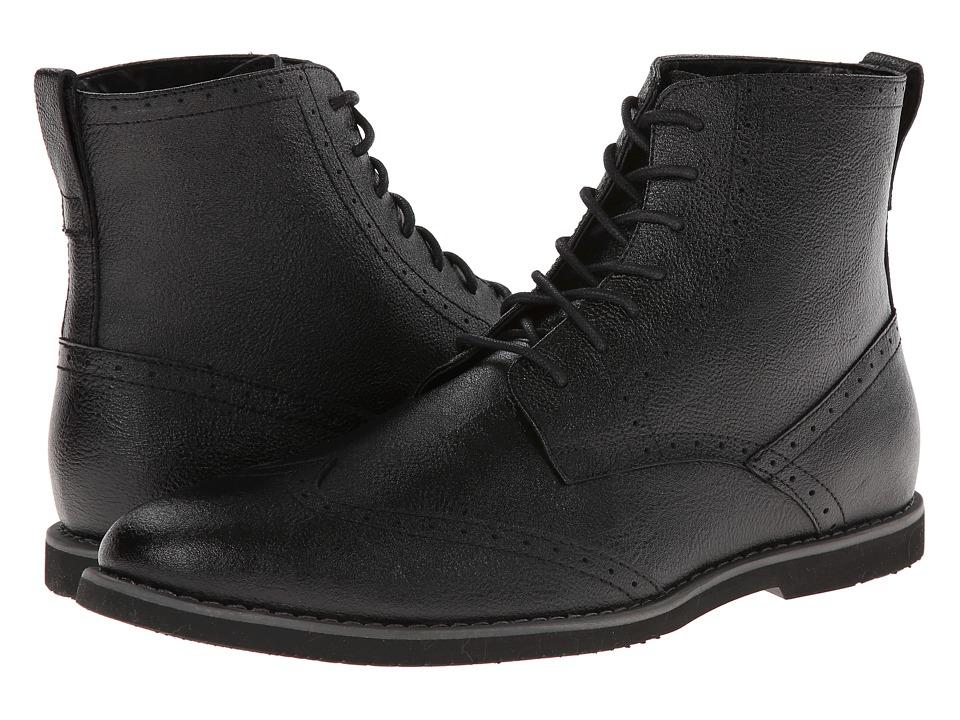 Calvin Klein - Fields (Black Leather) Men's Lace-up Boots