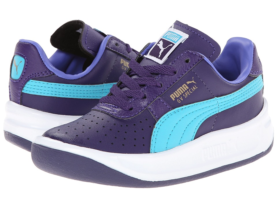 Puma Kids - GV Special Jr (Little Kid/Big Kid) (Parachute Purple/Scuba Blue/Black) Girls Shoes