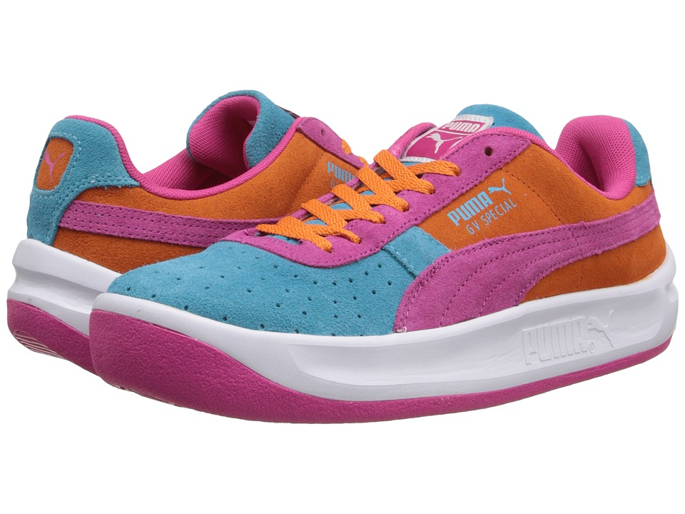 Puma Kids - GV Special NM JR (Little Kid/Big Kid) (Scuba Blue/Fuchsia Purple/Vibrant Orange) Girls Shoes