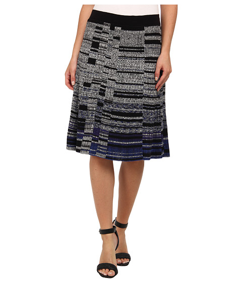 NIC+ZOE - Salt+Pepper Wink Skirt (Multi) Women