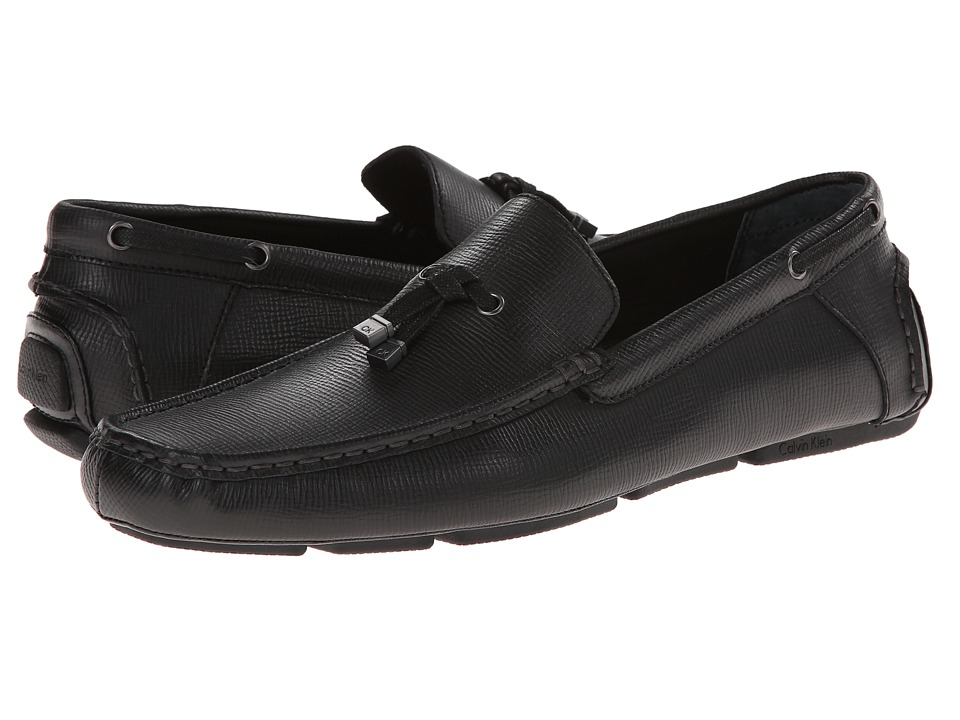 Calvin Klein - Macon (Black Epi Leather) Men's Shoes