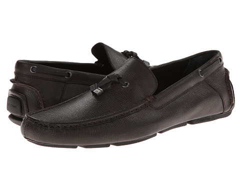 Calvin Klein - Macon (Dark Brown Epi Leather) Men's Shoes