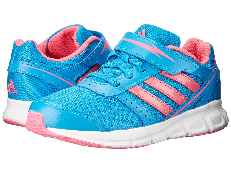 adidas Kids - Hyperfast EL K (Little Kid/Big Kid) (Solar Blue/Solar Pink/Core White) Girls Shoes