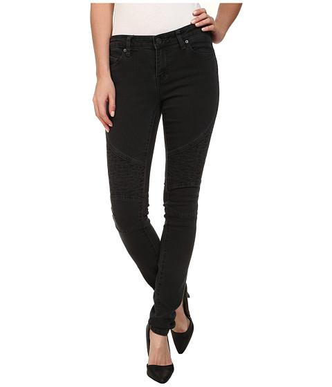 Volcom - Moto Super Stoned Skinny Jean (Vintage Black) Women's Jeans