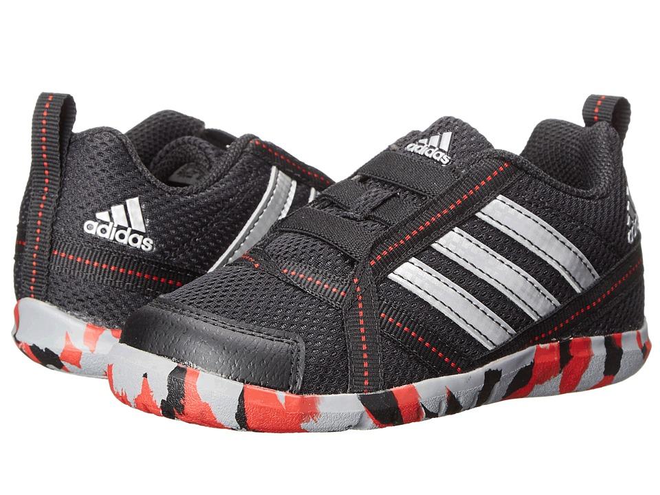 adidas Kids - NatWeb I (Toddler) (Black/Silver Metallic/Scarlet) Boys Shoes