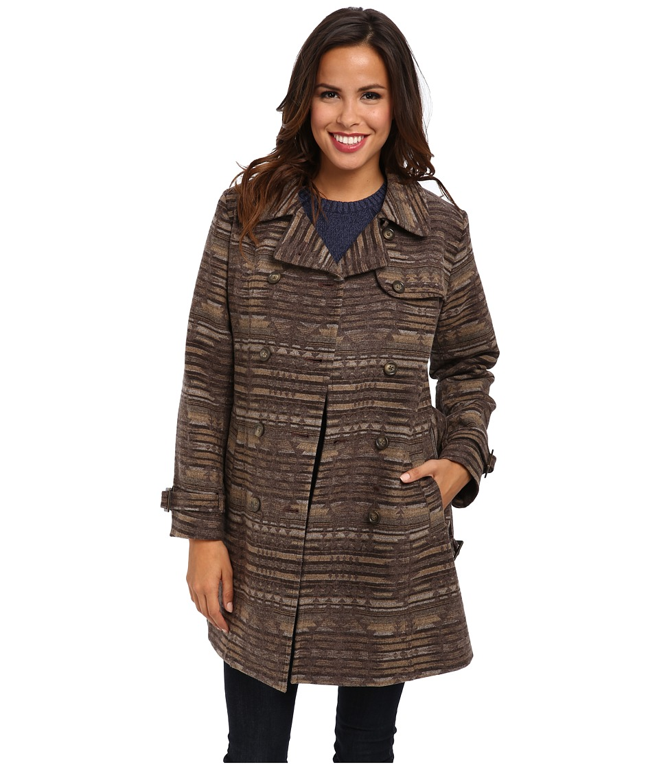 Pendleton - Tucson Jacquard Trench Coat (Sundown Jacquard) Women's Coat