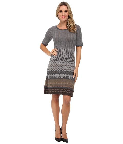 Pendleton - Mission Stripe Dress (Camel Heather/Grey Heather Multi) Women