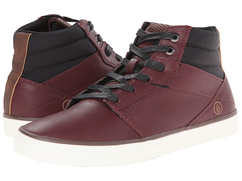 Volcom - Grimm Mid (Merlot Leather) Men's Shoes