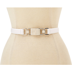 SALE! $15.99 - Save $16 on Steve Madden Skinny Interlock Stretch Belt (White) Apparel - 50.03% OFF $32.00