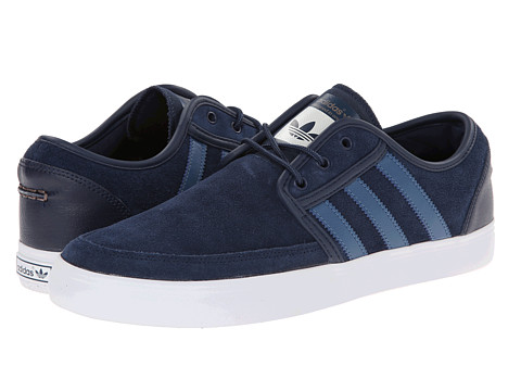 adidas Skateboarding - Seeley Boat (Collegiate Navy/Vista Blue/White) Men's Skate Shoes