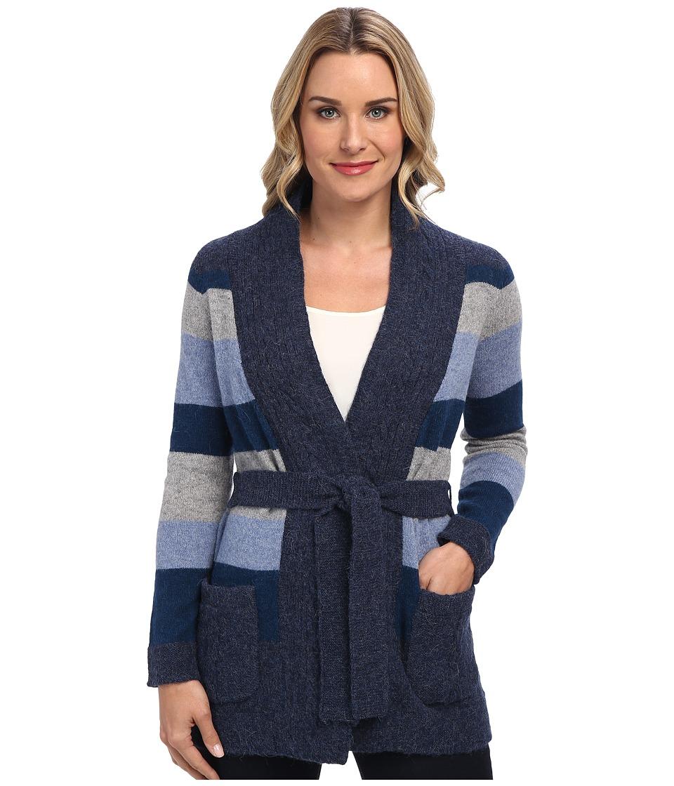 Pendleton - Totem Stripe Cardigan (Denim Mix Multi) Women's Sweater
