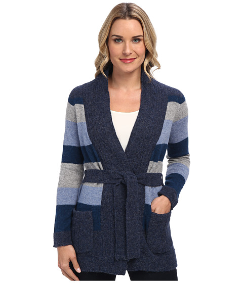 Pendleton - Totem Stripe Cardigan (Denim Mix Multi) Women's Sweater