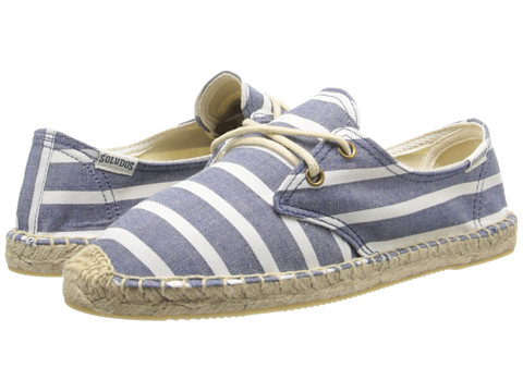 Soludos - Derby Lace Up Classic Stripe (Classic Stripe Light Navy/White) Women