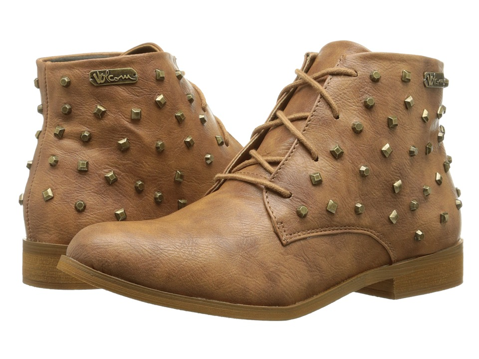 Volcom - Exhibition (Cognac) Women's Lace-up Boots