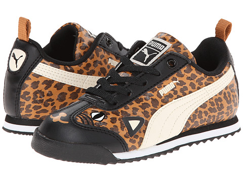 Puma Kids - Roma SL Animal Kids (Toddler/little Kid/Big Kid) (Black/White Swan) Girls Shoes