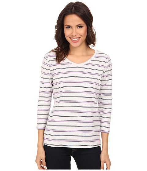 Pendleton - Trekker Stripe Tee (Pearl Grey Heather/Viola Heather Stripe) Women