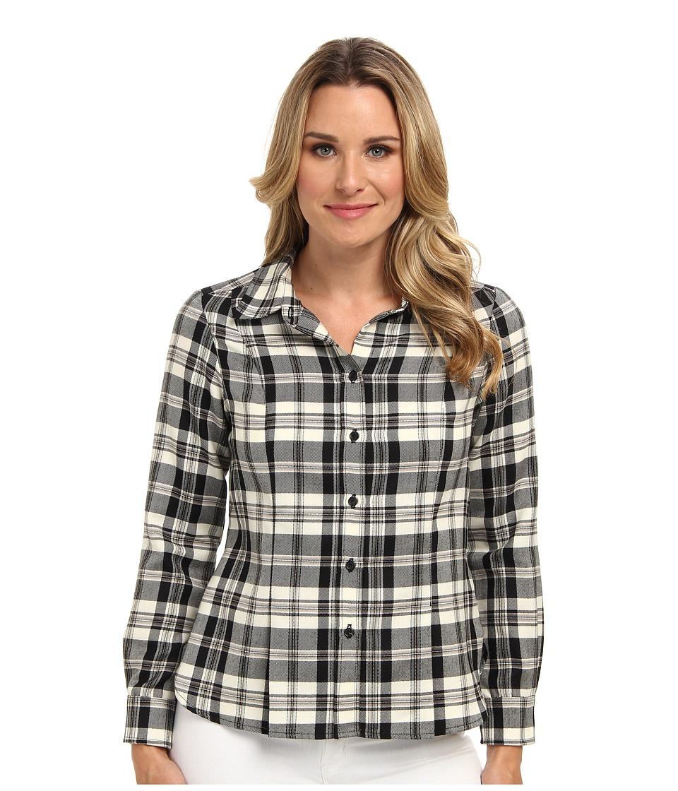 Pendleton - Ponderosa Plaid Shirt (Black/Ivory Worsted Plaid) Women