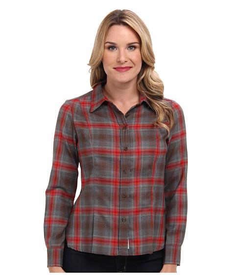 Pendleton - Ponderosa Plaid Shirt (Grey Mix Worsted Plaid) Women's Long Sleeve Button Up