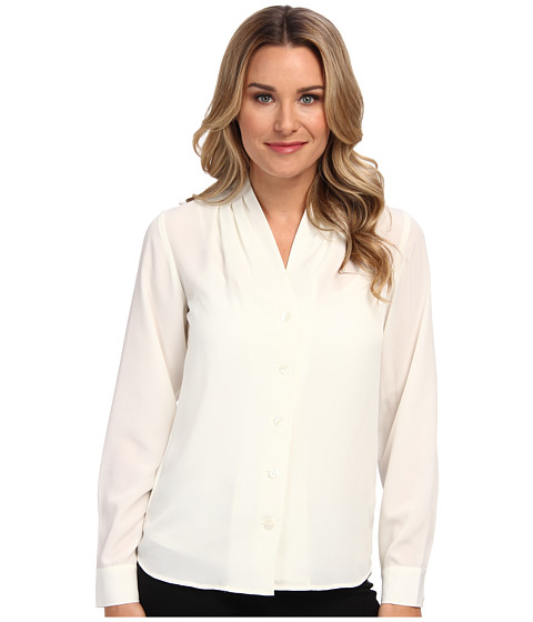 Pendleton - Shirred Neck Blouse (Ivory) Women