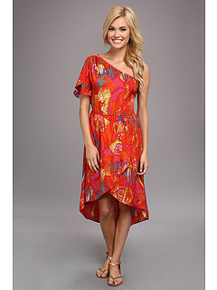 SALE! $35.99 - Save $13 on Angie One Shoulder Print Dress (Orange) Apparel - 26.55% OFF $49.00
