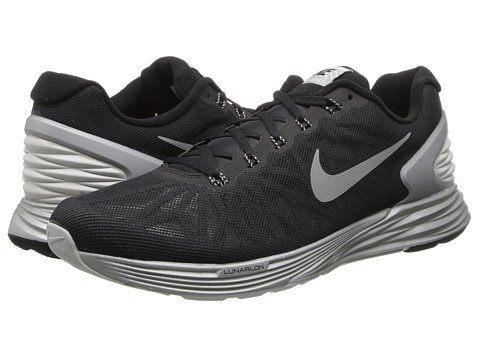 Nike - Lunar Glide Flash (Black/Reflective Silver) Men