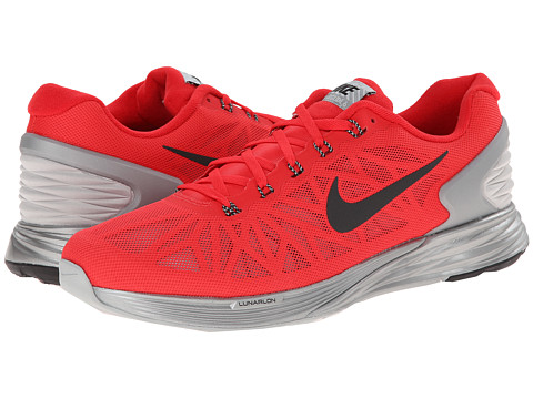 Nike - Lunar Glide Flash (Action Red/Black/Reflective Silver) Men's Running Shoes