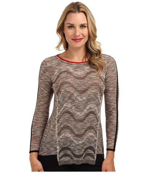 NIC+ZOE - Tonal Waves Top (Multi) Women